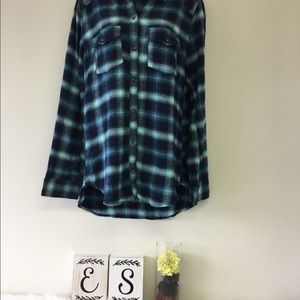 Hollister Women Oversized Plaid Shirt